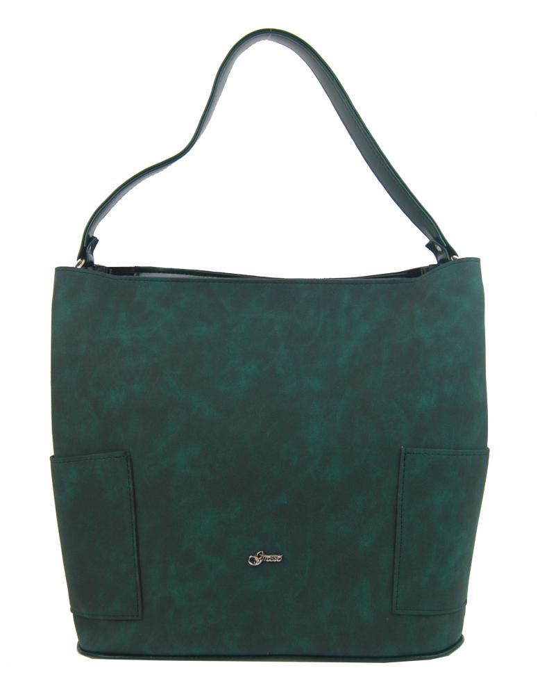 Smaragdově zelená velká dámská kabelka S756 GROSSO