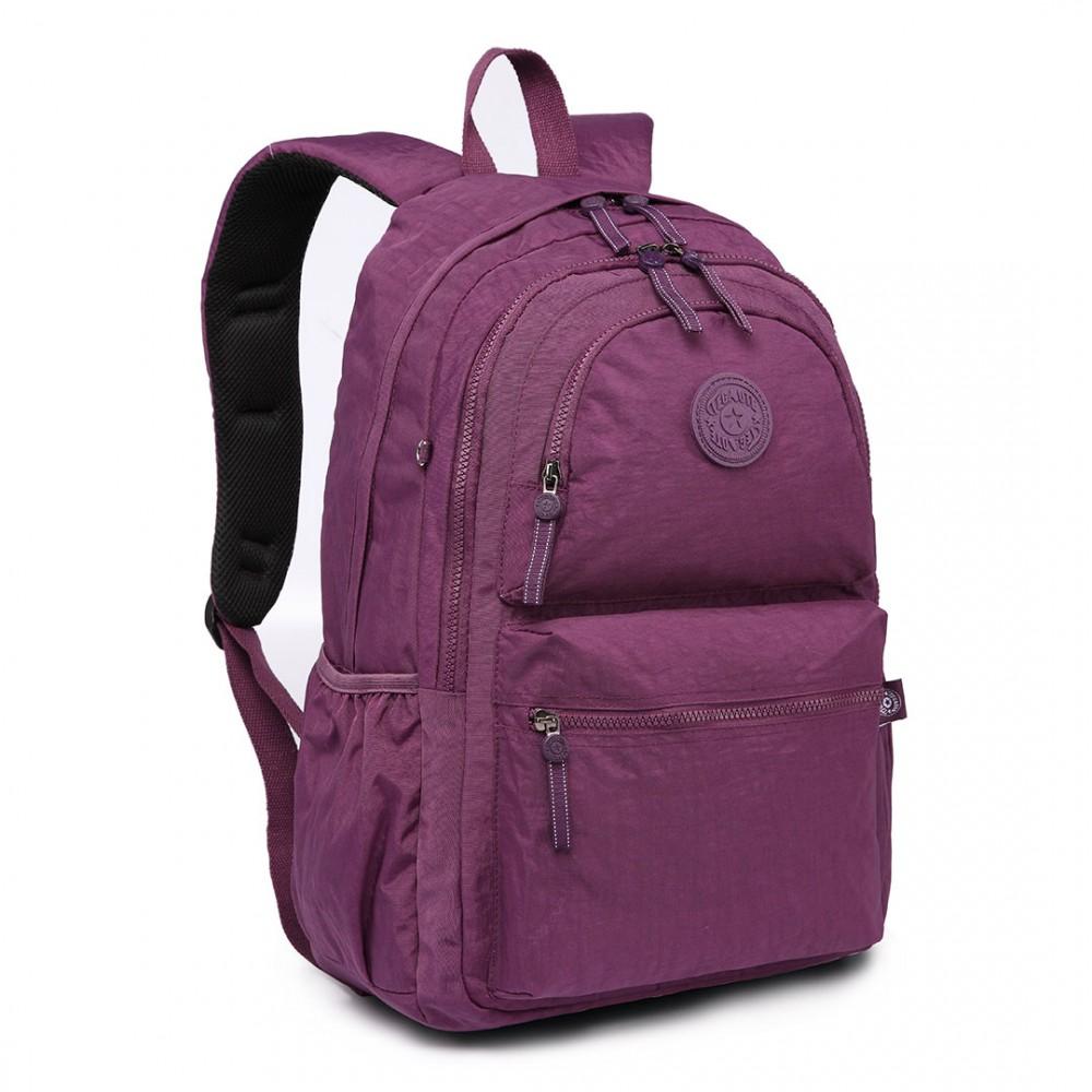 Kvalitný fialový batoh s vodoodpudivou povrchovou úpravou Miss Lulu
