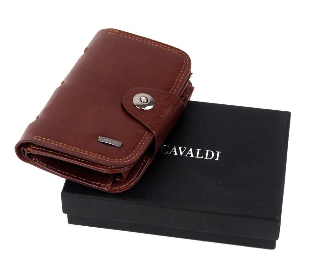 Tmavo hnedá dámska peňaženka v krabičke Cavaldi