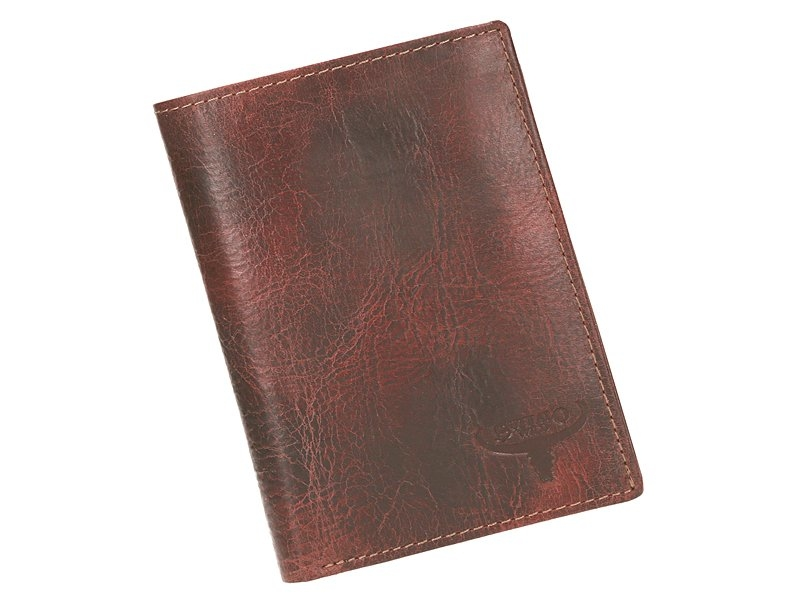 Kožená pánská peněženka kaštanová RFID v krabičce WILD