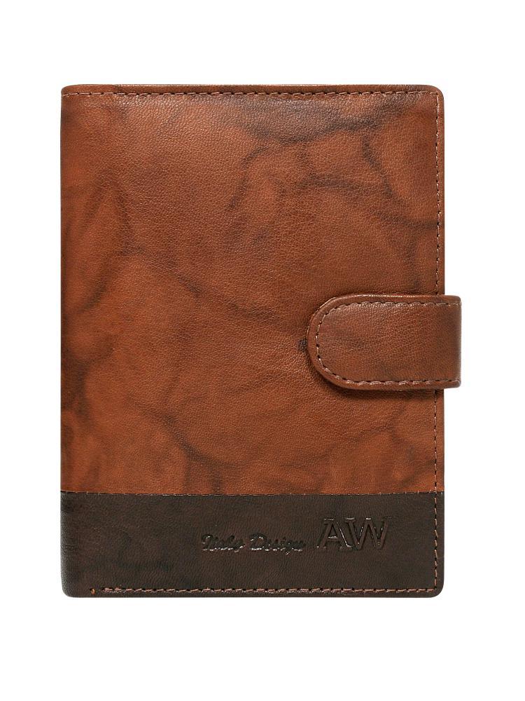 Kožená hnedá pánska peňaženka WILD