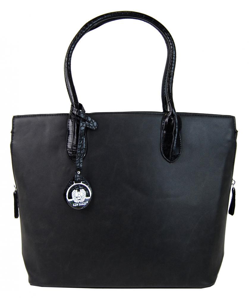 Kvalitná elegantná kabelka s ozdobou YH-1617 čierna