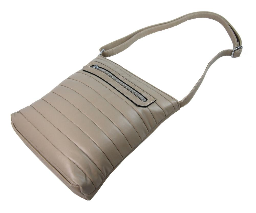 Elegantná prešívaná crossbody kabelka YH1602 béžová