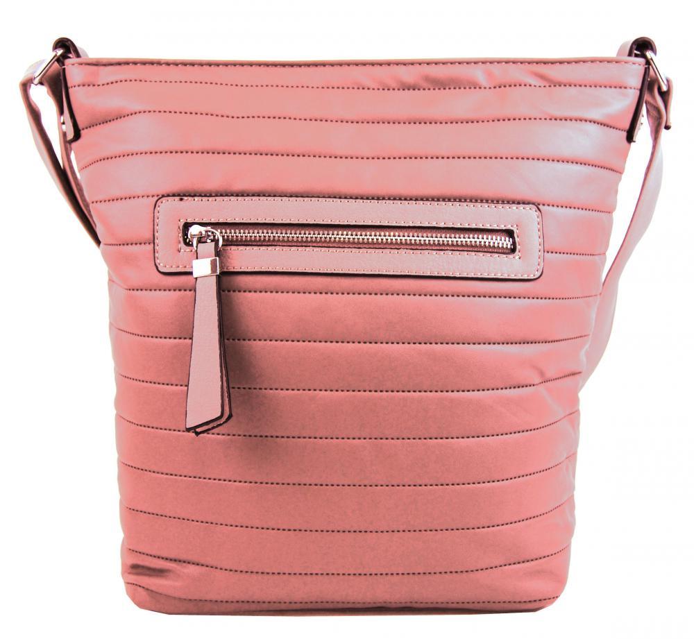 Růžová dámská crossbody kabelka