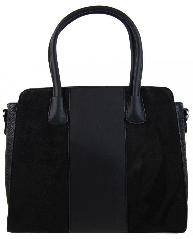 New Berry čierna semišová kabelka do ruky YH1612