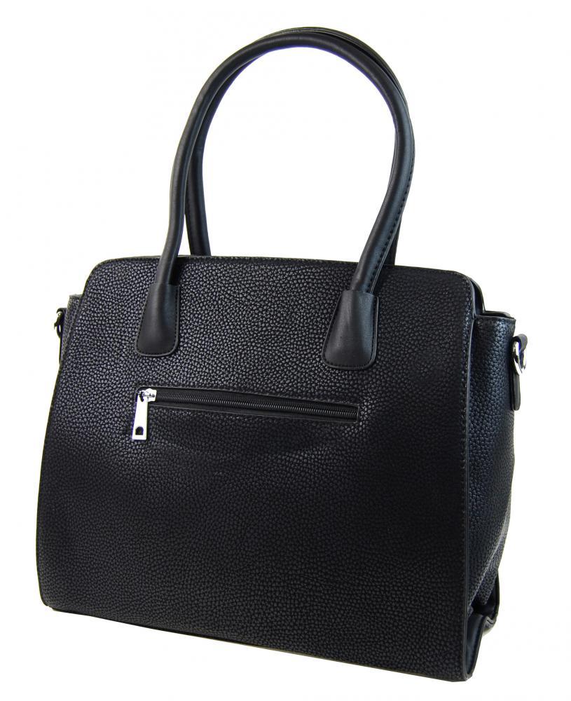New Berry černá semišová kabelka do ruky YH1612
