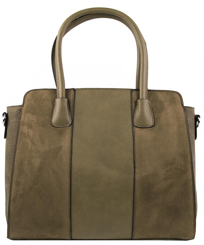 New Berry prírodno hnedá semišová kabelka do ruky YH1612