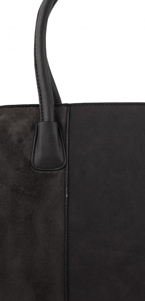New Berry šedá semišová kabelka do ruky YH1612