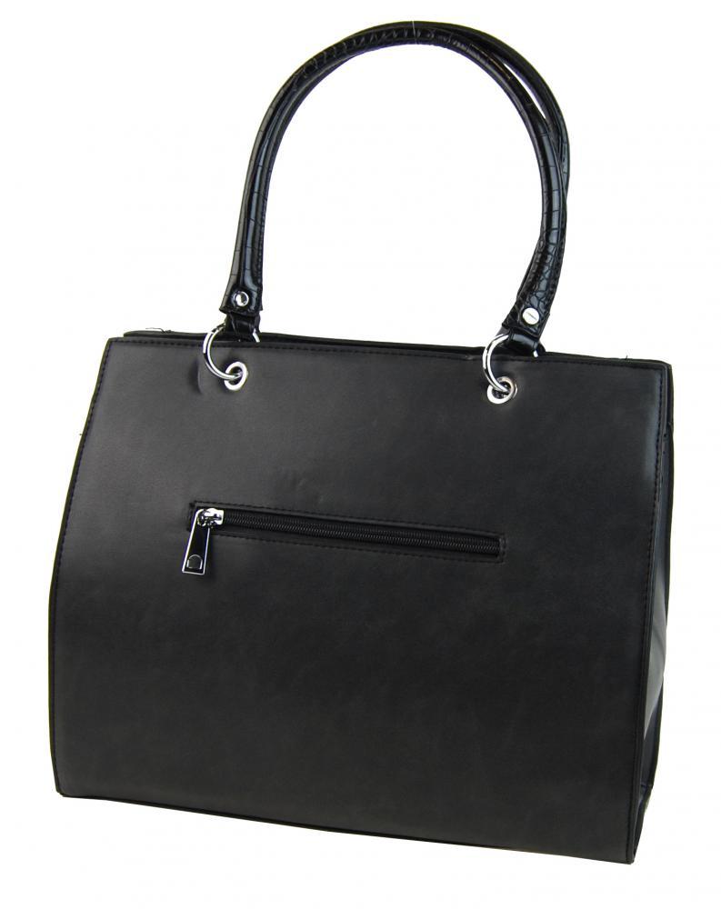 New Berry černá kroko kabelka z broušené kůže YH1619