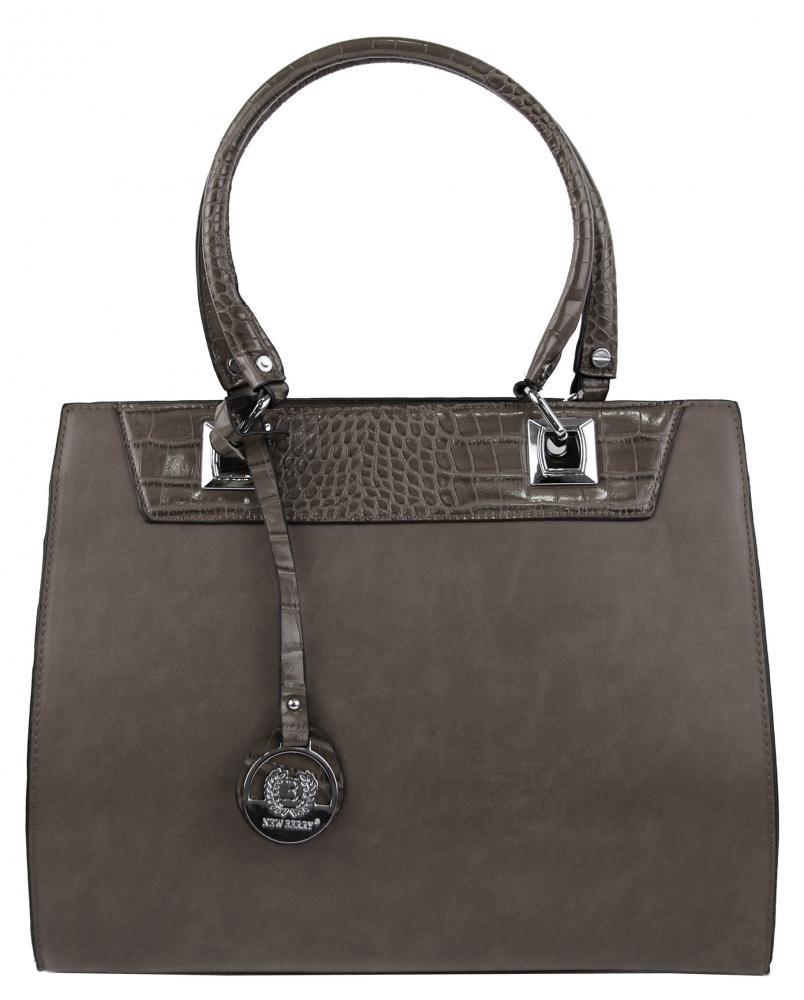 New Berry šedá kroko kabelka z brúsenej kože YH1619