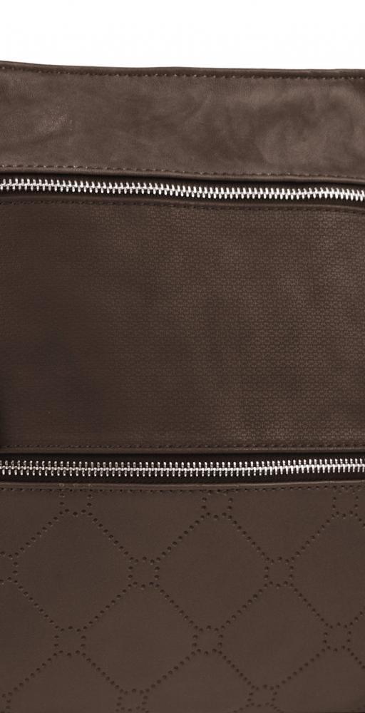 NEW BERRY dámská crossbody kabelka YH1647 tmavě hnědá