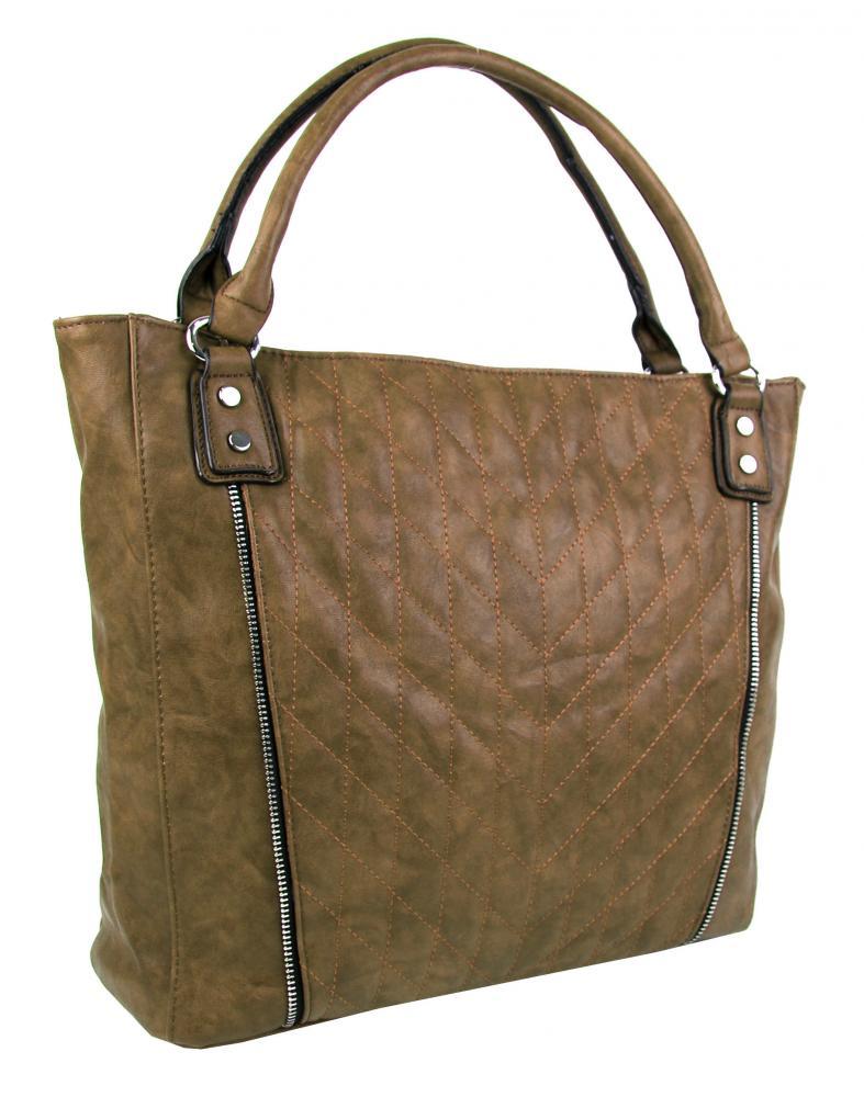 NEW BERRY Přírodně hnědá dámská kabelka YH1651