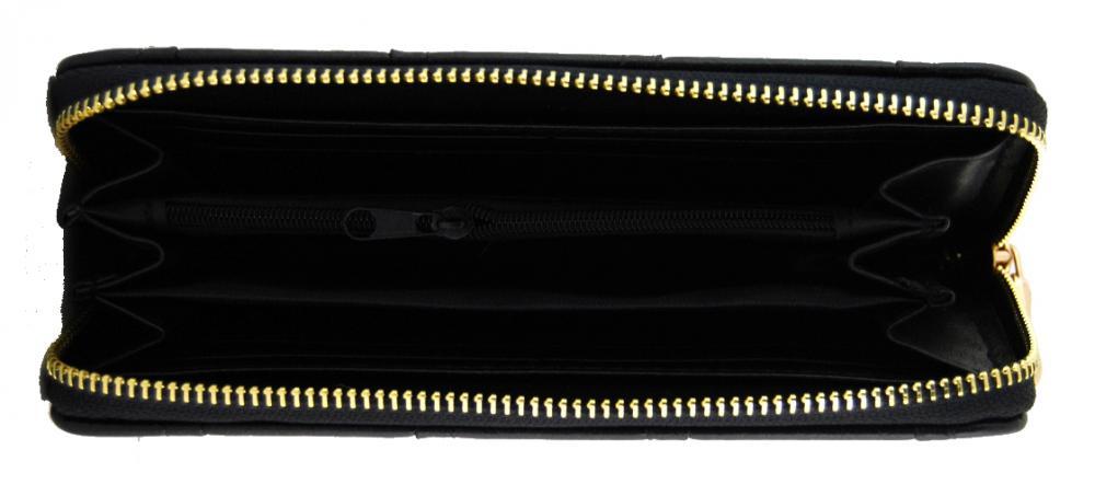 Moderní praktická dámská zipová peněženka ZF5055 černá