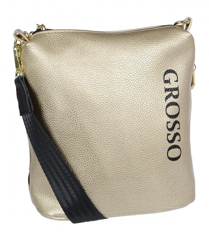 Zlatá dámská crossbody kabelka M303 GROSSO