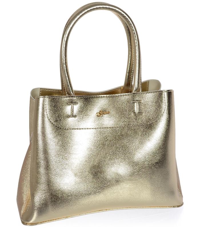 Zlatá elegantní dámská kabelka S750 GROSSO