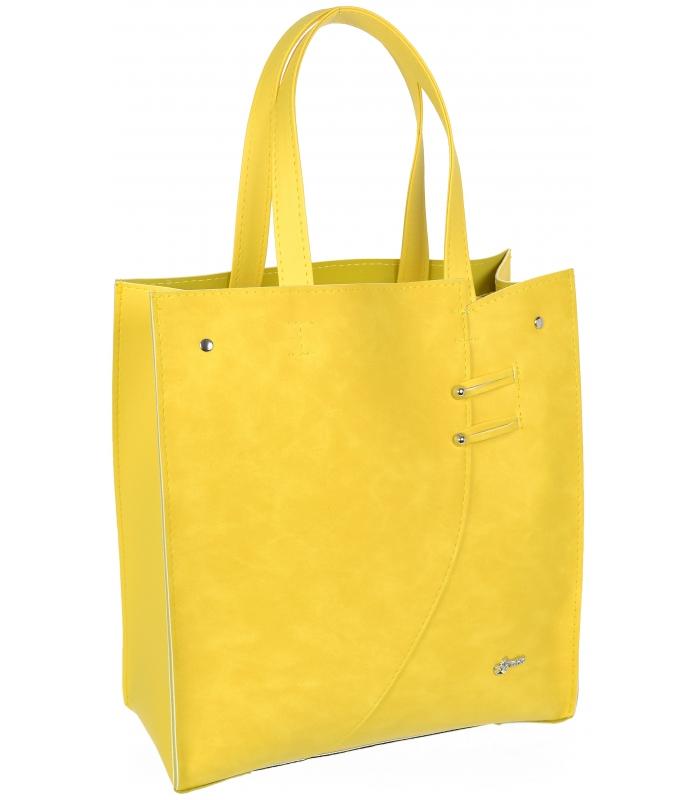 2b161e7b8a Žlutá moderní obdélníková dámská kabelka S753 GROSSO empty
