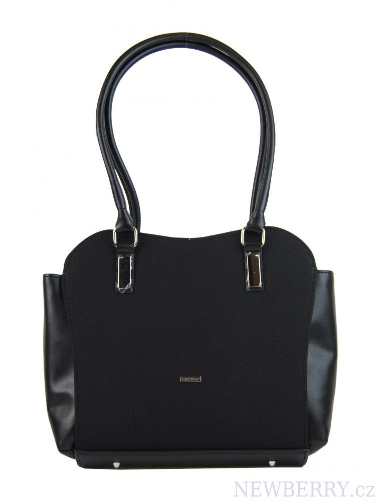 Černá zpevněná kabelka přes rameno S734 GROSSO   NEWBERRY ... 9a6fd481651