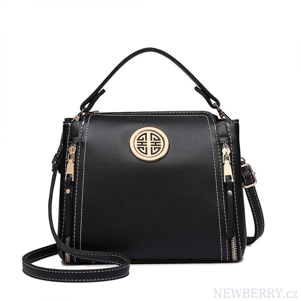 9c2bcdb58 Malá černá dámská moderní kabelka Miss Lulu : NEWBERRY - velkoobchod ...