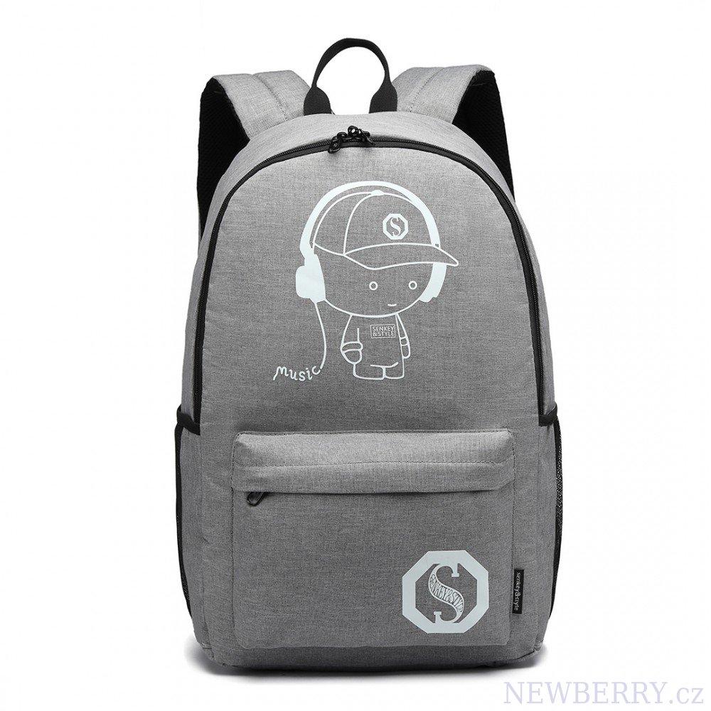 KONO šedý batoh nepromokavý fbb915c5cb